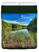 Long Branch Lake Marsh Duvet Cover by Adam Jewell