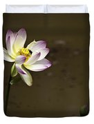 Lotus And Friend Duvet Cover by Rob Travis