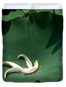 Lotus Leaf--castoff IIi Dl060 Duvet Cover by Gerry Gantt