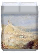 Lucerne From The Walls Duvet Cover by Joseph Mallord William Turner