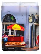 Lucky Dogs - Bourbon Street Duvet Cover by Bill Cannon