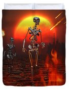 Machines Rise To Take Their Place Duvet Cover by Mark Stevenson