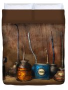 Machinist - Tools - Lubrication Dispensers  Duvet Cover by Mike Savad