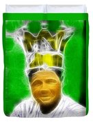 Magical Babe Ruth Duvet Cover by Paul Van Scott