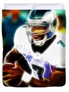 Magical Michael Vick Duvet Cover by Paul Van Scott