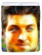 Magical Tim Tebow Face Duvet Cover by Paul Van Scott