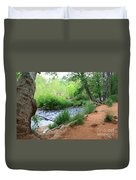 Magical Trees At Red Rock Crossing Duvet Cover by Carol Groenen