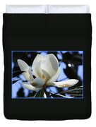 Magnolia In Blue Duvet Cover by Carol Groenen