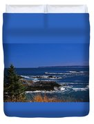 Maine At West Quoddy Duvet Cover by Skip Willits