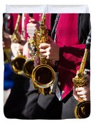 Marching Band Saxophones Duvet Cover by James BO  Insogna