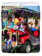 Mardi Gras Clowning Duvet Cover by Steve Harrington