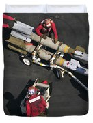 Marines Push Pordnance Into Place Duvet Cover by Stocktrek Images