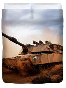 Marines Roll Down A Dirt Road Duvet Cover by Stocktrek Images