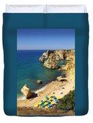 Marinha Beach Duvet Cover by Carlos Caetano