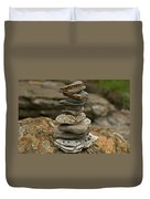 Mark The Trail Duvet Cover by Paul Mangold