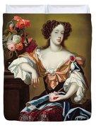 Mary Of Modena  Duvet Cover by Simon Peeterz Verelst