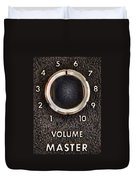 Master Volume Duvet Cover by Scott Norris