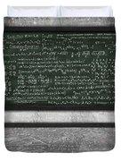Maths Formula On Chalkboard Duvet Cover by Setsiri Silapasuwanchai
