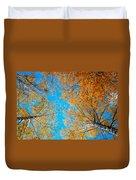 Meet In Heaven. Autumn Glory Duvet Cover by Jenny Rainbow