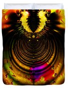 Melting Pot . Gold . Horizontal Cut . S8a.s11 Duvet Cover by Wingsdomain Art and Photography