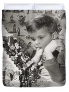 Memories of a special Christmas Duvet Cover by Christine Till