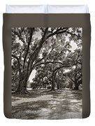 Memory Lane Monochrome Duvet Cover by Steve Harrington