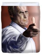 Men must know their limitations-Clint Eastwood Duvet Cover by Reggie Duffie