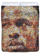 Michael Jordan Card Mosaic 3 Duvet Cover by Paul Van Scott
