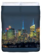 Mid-town Manhattan Twilight I Duvet Cover by Clarence Holmes