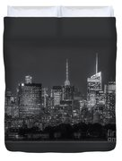 Mid-town Manhattan Twilight II Duvet Cover by Clarence Holmes