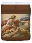 Midday Duvet Cover by Louis Jean Francois I Lagrenee