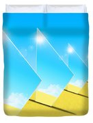 Mirrors On Sand In Blue Sky Duvet Cover by Setsiri Silapasuwanchai