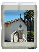 Mission San Rafael Arcangel Chapel Duvet Cover by Methune Hively