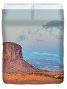 Mitchell Butte in Monument Valley Duvet Cover by Clarence Holmes