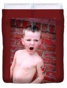 Mohawk Boy Duvet Cover by Kelly Hazel