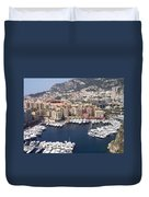 Monaco Harbour Duvet Cover by Marlene Challis