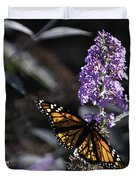 Monarch in Backlighting Duvet Cover by Rob Travis