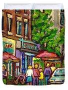 Monkland Tavern Duvet Cover by Carole Spandau