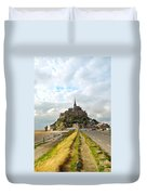 Mont Saint Michel Duvet Cover by Elena Elisseeva