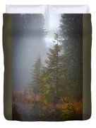 Morning Fall Colors Duvet Cover by Mike Reid