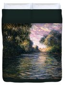Morning On The Seine Duvet Cover by Claude Monet