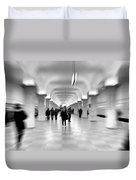 Moscow Underground Duvet Cover by Stelios Kleanthous