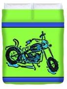 Motorbike 1c Duvet Cover by Mauro Celotti