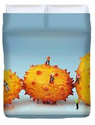 Mountain Climber On Mangosteens II Duvet Cover by Paul Ge