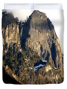 Mountains Of Yosemite . 7d6167 . Vertical Cut Duvet Cover by Wingsdomain Art and Photography