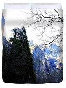 Mountains of Yosemite . 7D6213 Duvet Cover by Wingsdomain Art and Photography