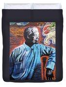 Mr. Nelson Mandela Duvet Cover by Juergen Weiss