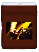 Music Is Passion Duvet Cover by Christopher Gaston