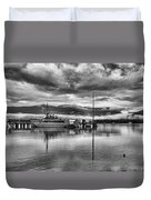 Navy Lookout Duvet Cover by Douglas Barnard