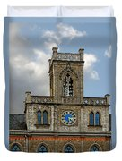 Neo-gothic Weimarer City Hall Duvet Cover by Christine Till